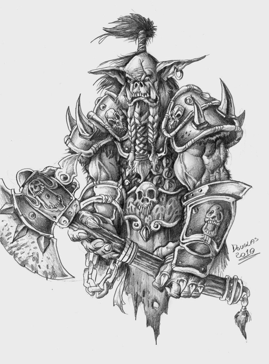 Drawn orc white Art Drawing Pic Pencil Drawing