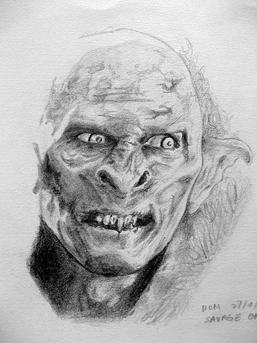 Drawn orc white The Orc Rings Lord of