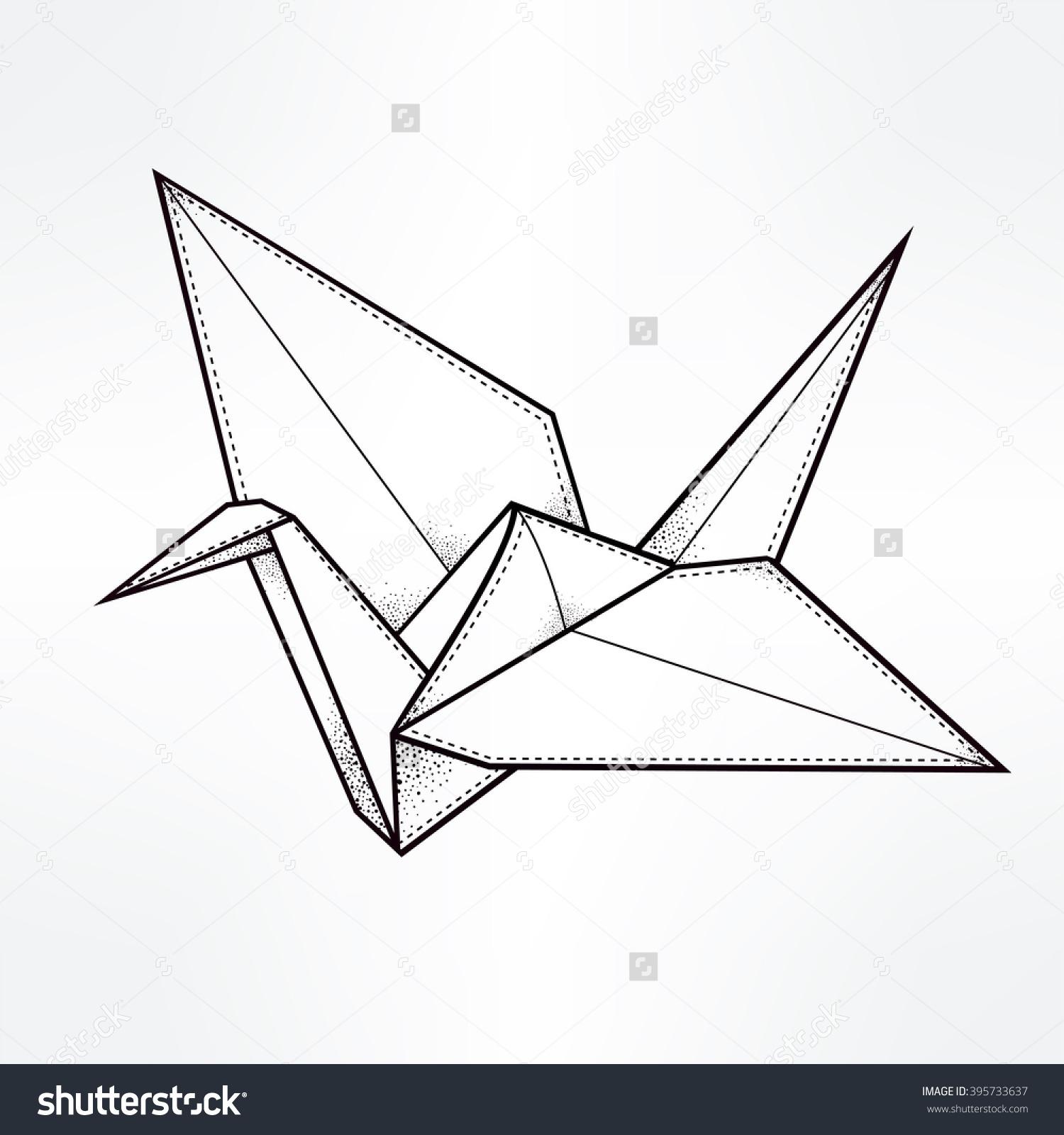Drawn origami Origami drawing [Origami] pdf bird