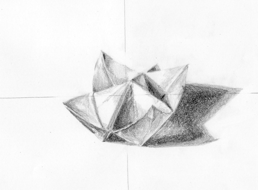 Drawn origami Drawing Pencil Image Realistic Drawing