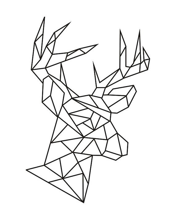 Drawn buck geometric About instant 107 on print