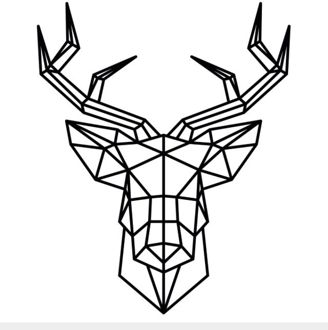 Drawn buck geometric 118 images best Geometrisch head
