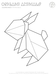 Drawn origami Printables Origami Pages Animal