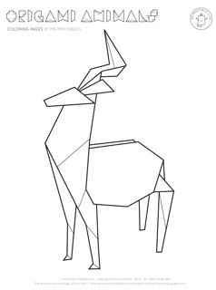 Drawn origami About images deer Pinterest 87
