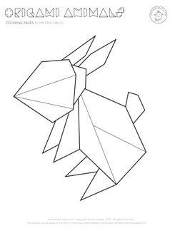 Drawn rabbid origami Origami best 34 rabbit images