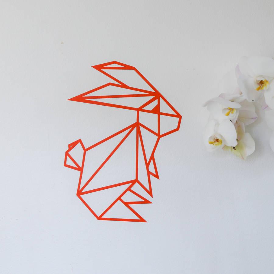 Drawn rabbid origami Origami Instructions  Origami Origami