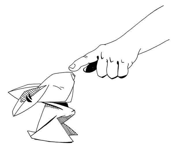 Drawn rabbid origami By DeviantArt HTSAD CarlPearce Origami
