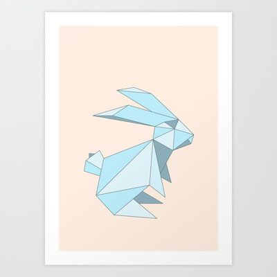 Drawn rabbid origami S Best 00 Print Art