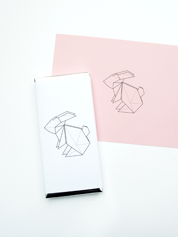Drawn rabbit origami Rabbit chocolate Origami rabbit wrapper
