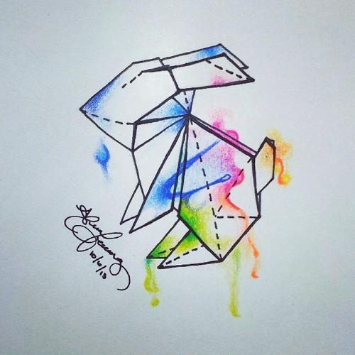 Drawn rabbid origami Tattoo Imágenes Google Google con