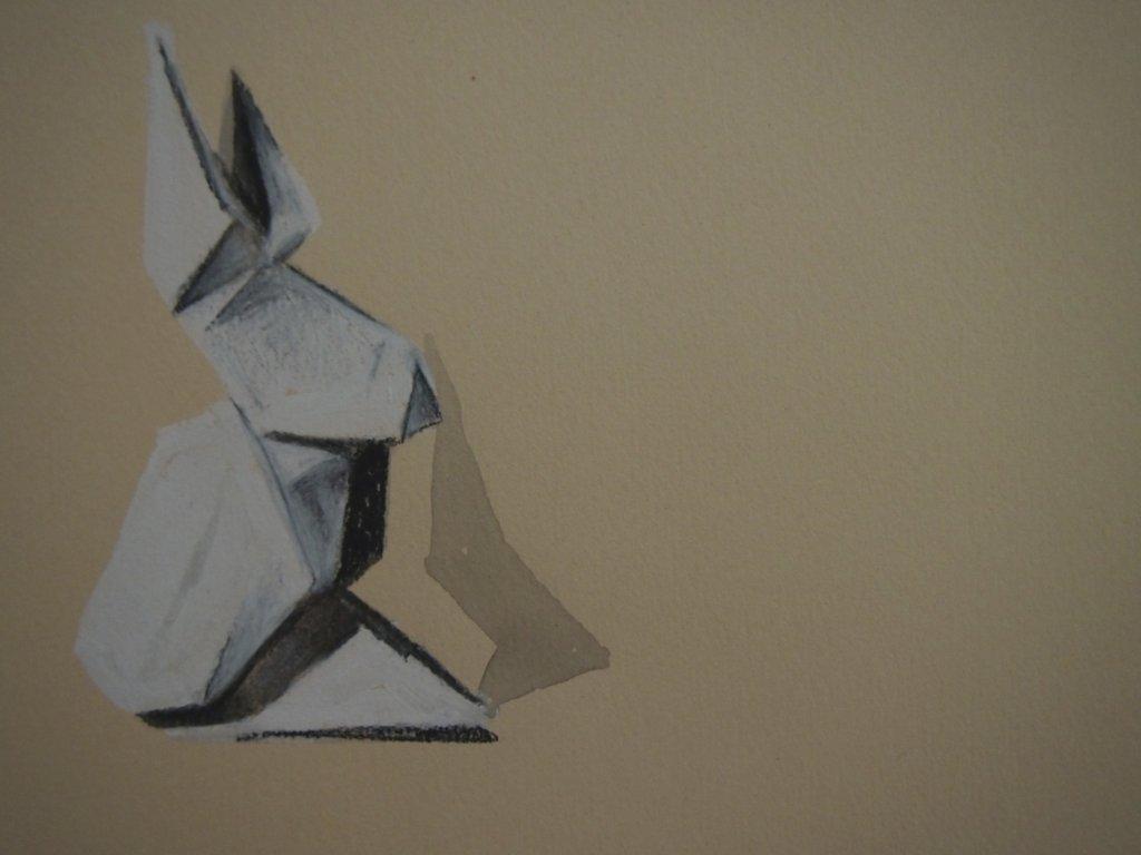Drawn rabbid origami Ellaclawley Drawing Origami Rabbit