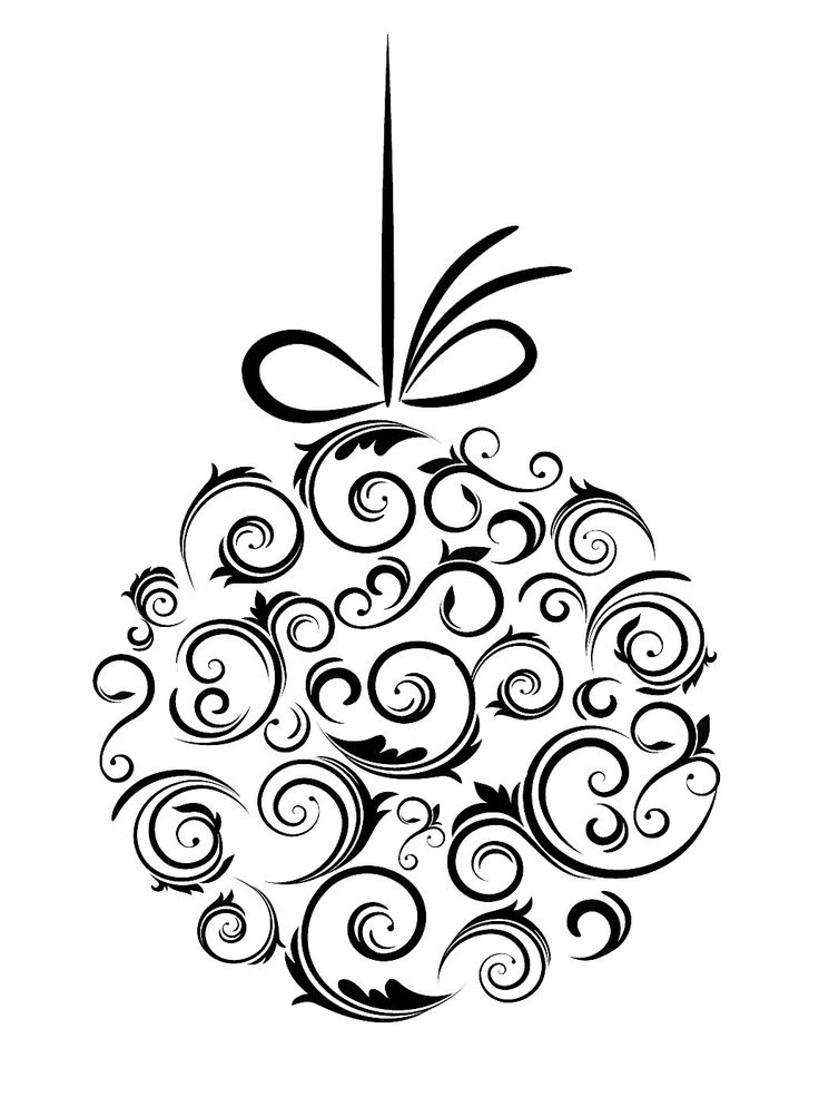 Drawn ornamental black and white #2