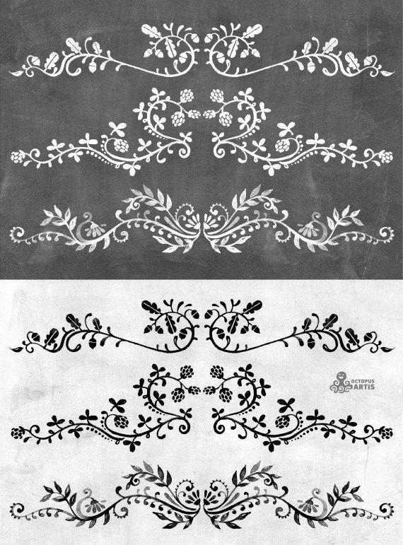 Drawn ornamental chalk #2