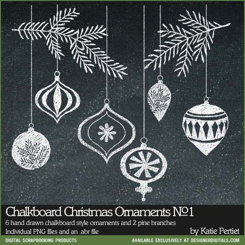 Drawn ornamental chalkboard Brushes #Christmas Chalkboard Ornaments Stamps