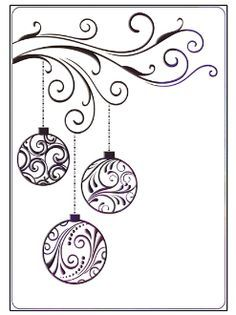 Drawn ornamental christmas card Simple Google and doodle Search