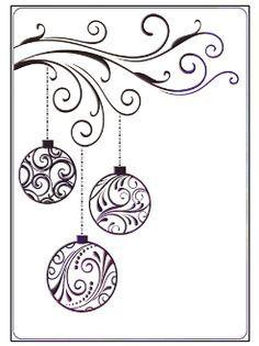 Drawn ornamental christmas card #9