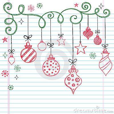 Drawn ornamental christmas card Hand Doodle 25+ Drawn on