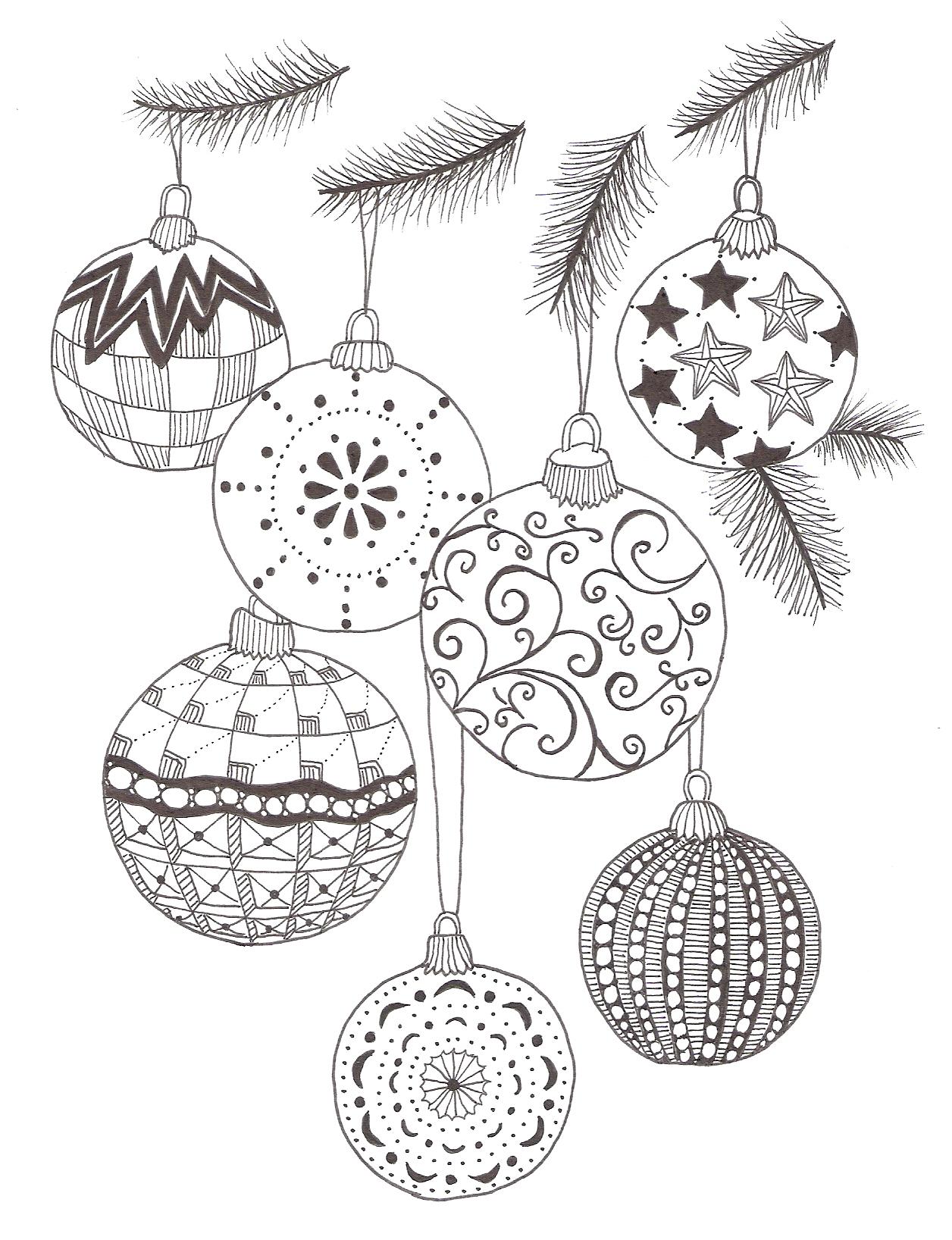 Drawn ornamental christmas card Christmas Christmas 5 Zentangle Baubles
