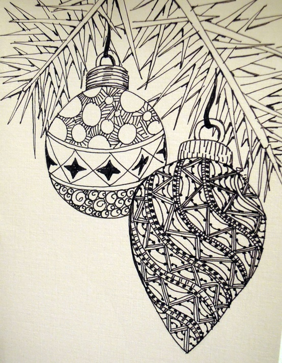Drawn ornamental christmas card Zendoodle Christmas by Drawing Piersanti