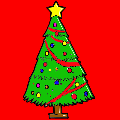 Drawn ornamental christmas cartoon #11