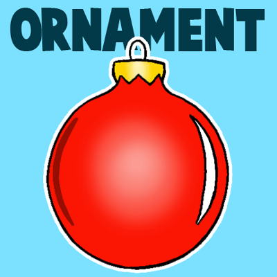 Drawn ornamental christmas cartoon #3