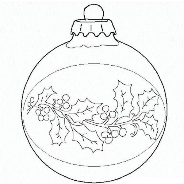 Drawn ornamental christmas coloring Christmas Ornaments Ornament Ball Coloring: