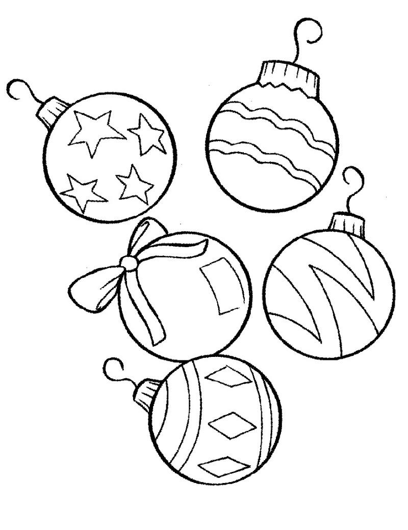 Drawn ornamental christmas coloring #15
