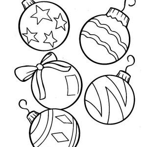 Drawn ornamental christmas coloring #9