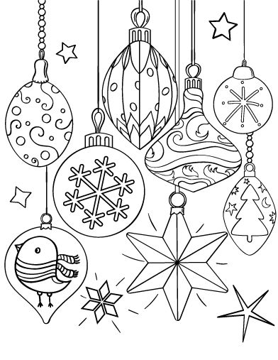 Drawn ornamental christmas coloring Coloring ornament page and PDF