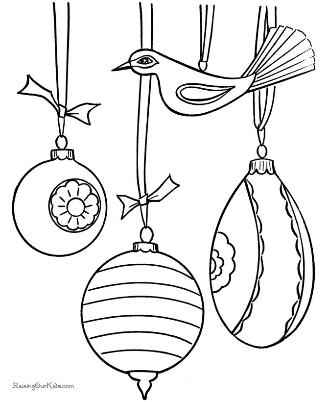 Drawn ornamental christmas coloring Raisingourkids by Christmas on 139
