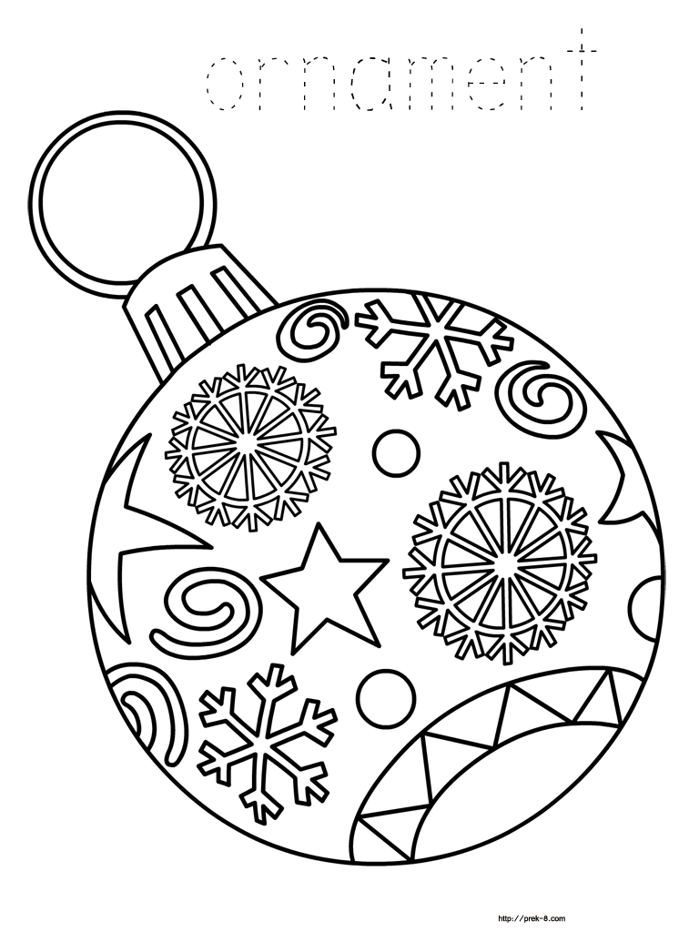 Drawn ornamental christmas coloring Christmas printable coloring Paper for