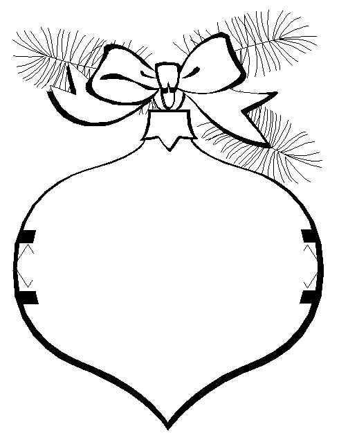 Drawn ornamental christmas coloring #14