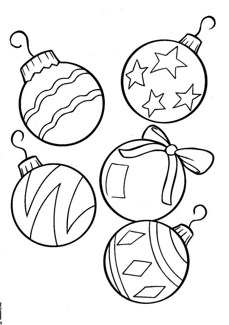 Drawn ornamental christmas coloring #5