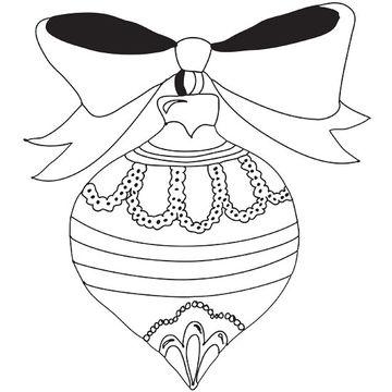 Drawn ornamental christmas coloring #2