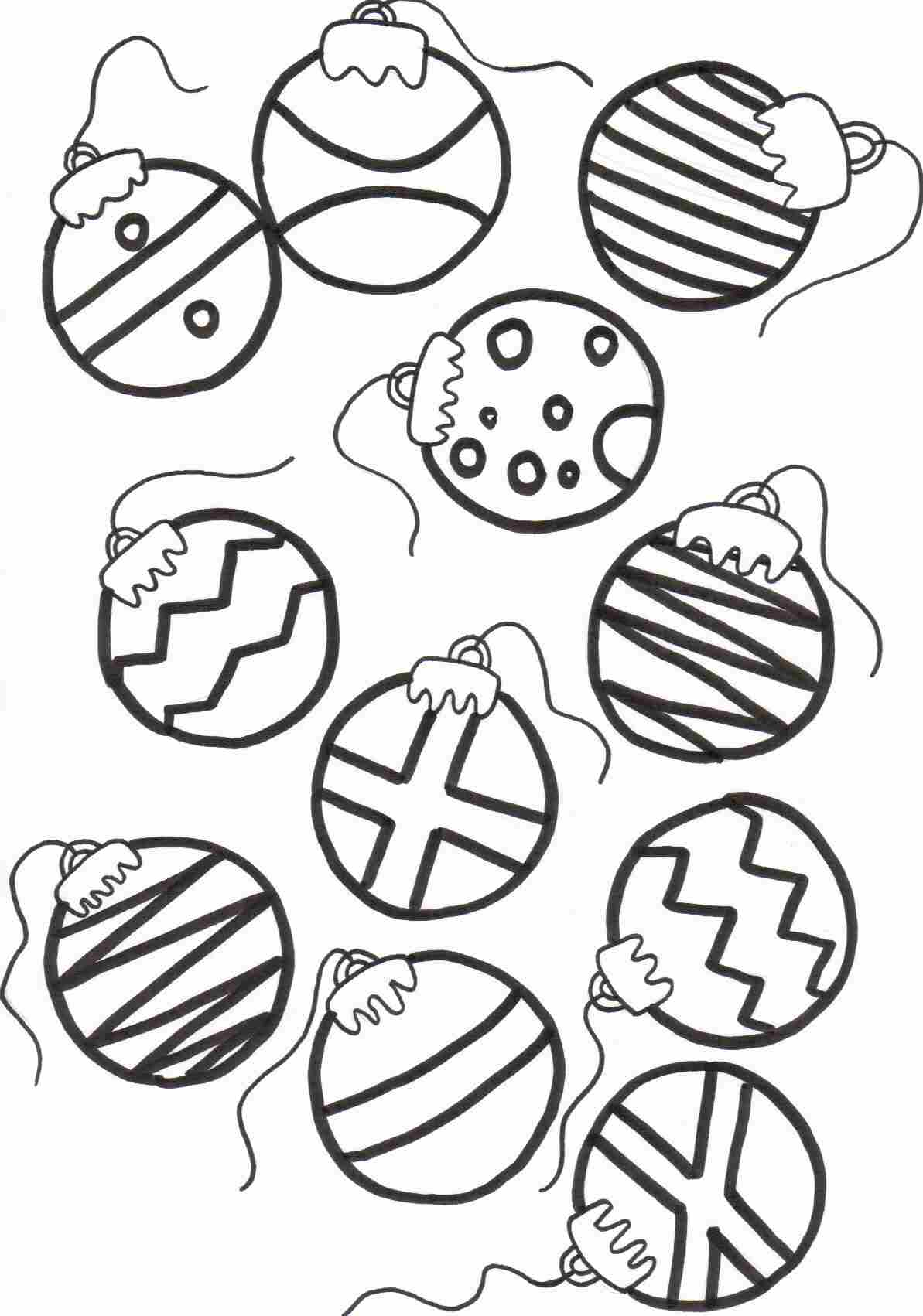 Drawn ornamental christmas coloring #13