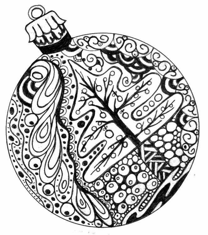 Drawn ornamental printable coloring #6