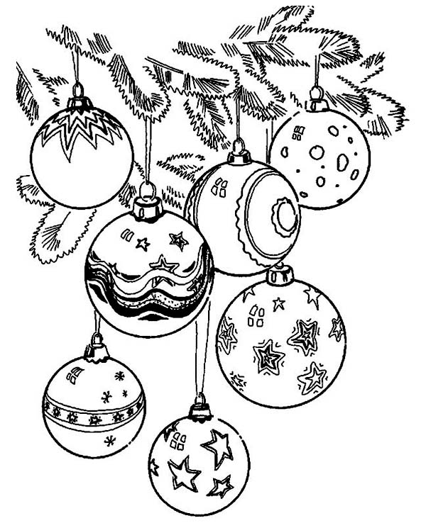 Drawn ornamental printable coloring  Christmas Coloring Ornaments Coloring