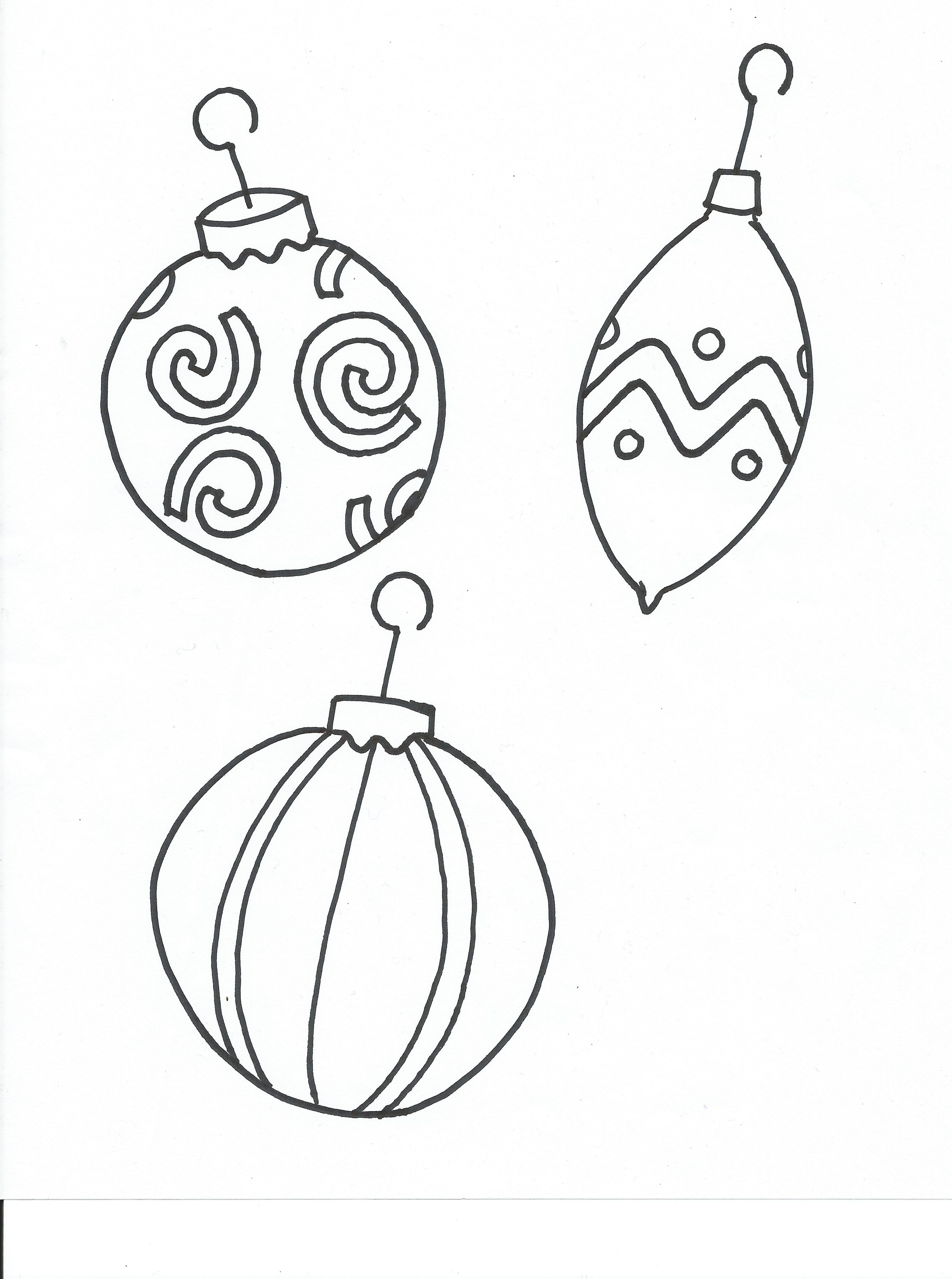 Drawn ornamental printable coloring Coloring Ornaments Pages Coloring Free