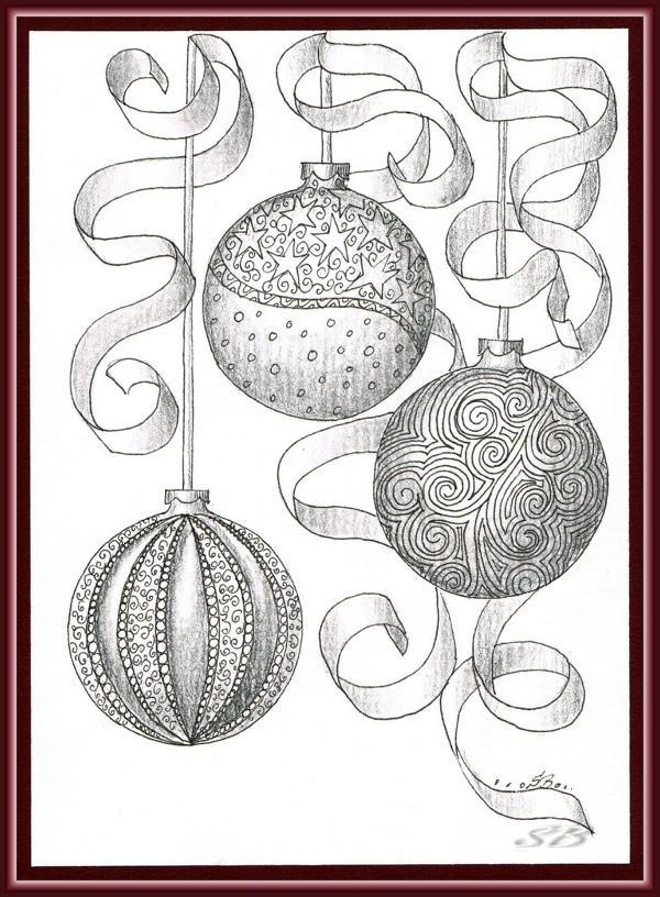 Drawn ornamental xmas #11