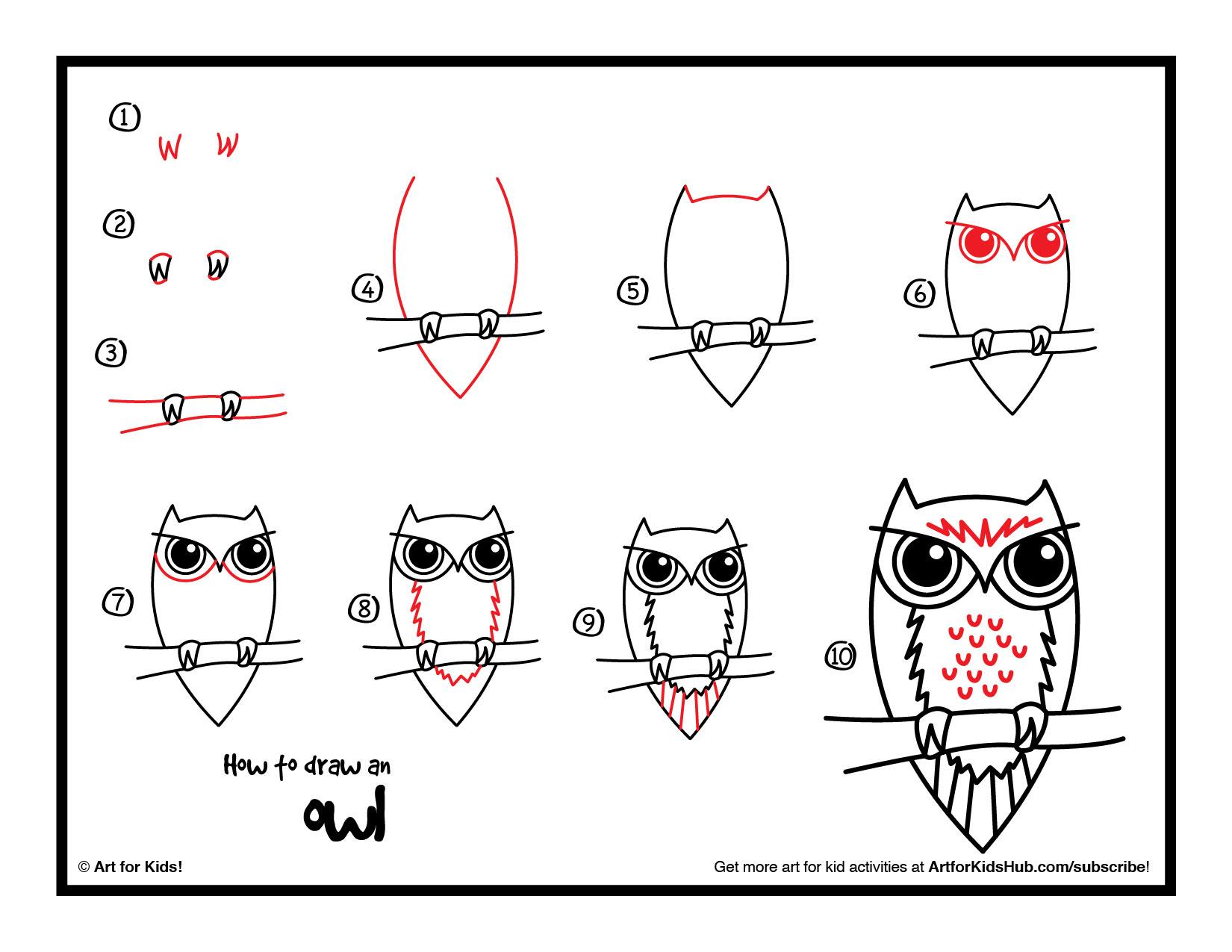 Drawn rabbit art for kid hub An Owl Draw Free An