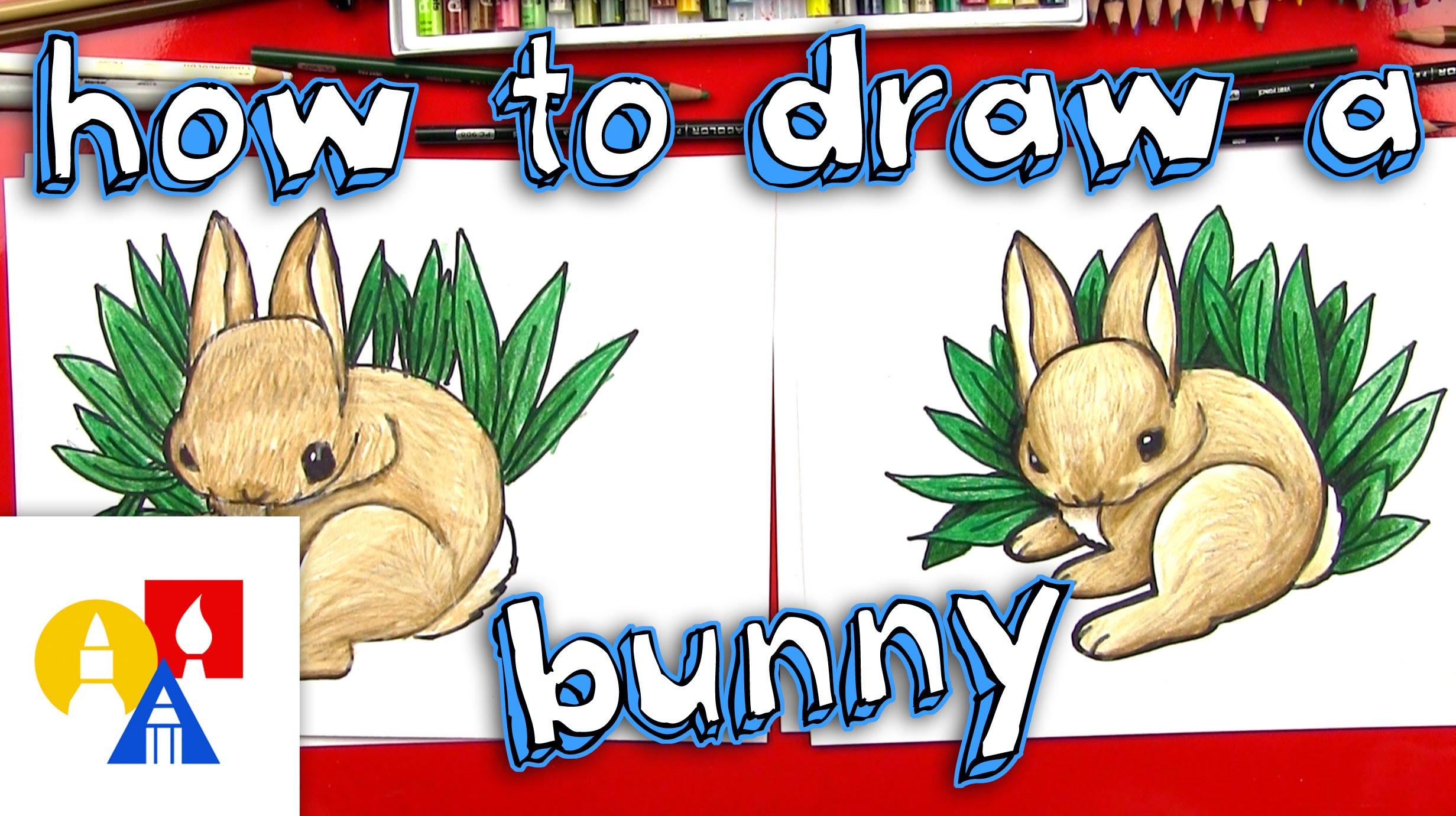 Drawn rabbit art for kid hub Draw A Bunny How