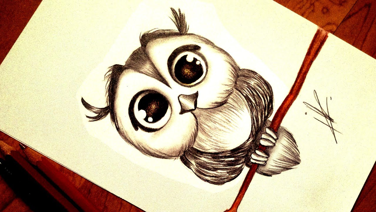 Drawn owlet kawaii  Kawaii Owl Drawing a