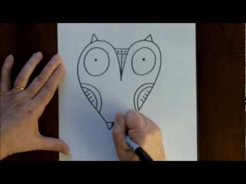Drawn owl beginner An Tutorial Step Draw by
