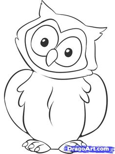 Drawn owl cartoon #12