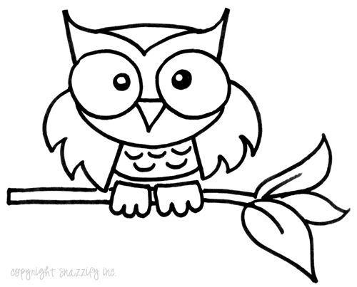 Drawn owl cartoon #14