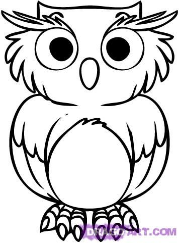 Drawn owl cartoon #5