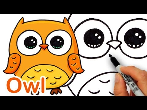 Drawn owl cartoon #11