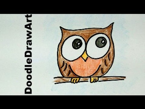 Drawn owl cartoon #9