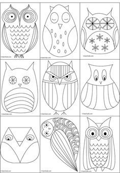 Drawn owlet chi o Draw Great owl to an