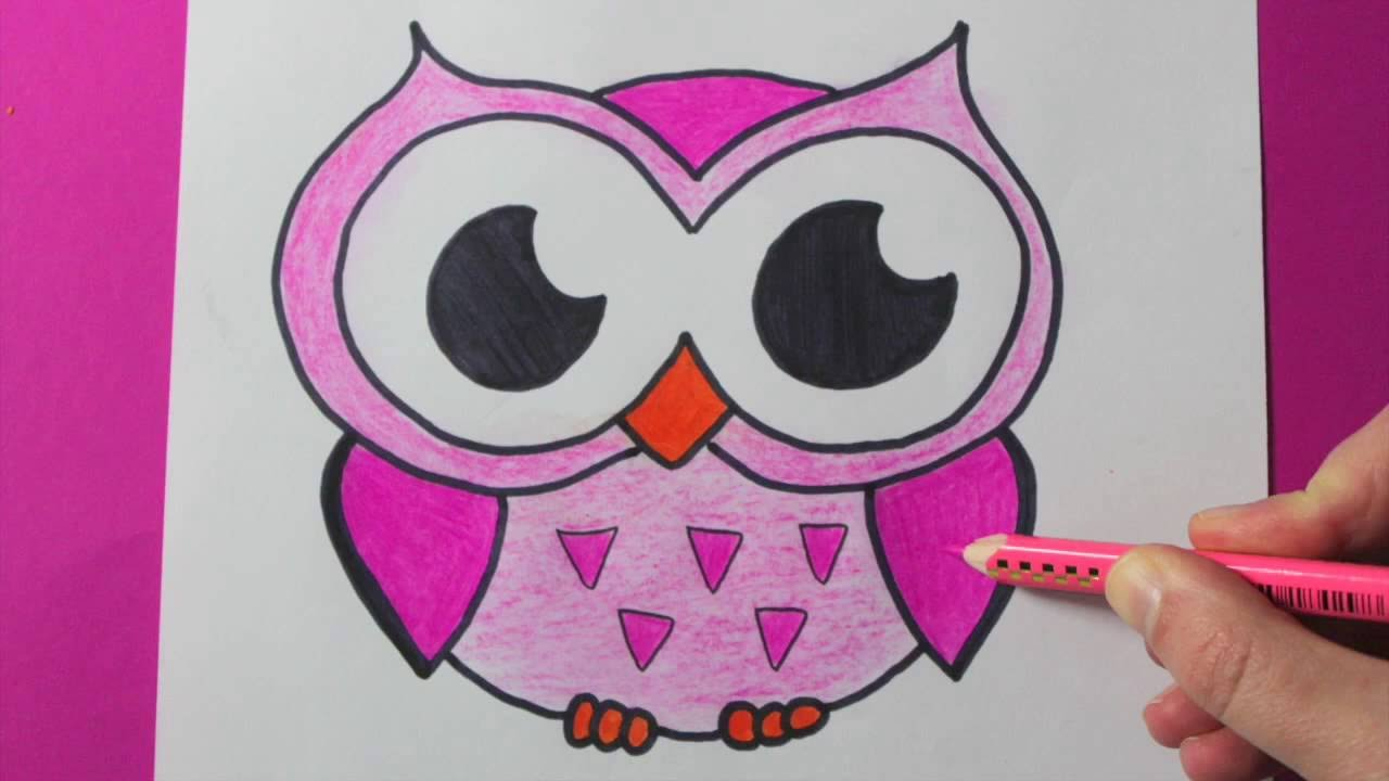 Drawn owl kawaii PINK CUTE HOW TO YouTube
